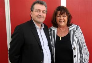 Lionel Manière et sa suppléante Anne-Marie Audouze, sont candidats sur la 3 e circonscription qui va de Baume-les-Dames à Bethoncourt, en passant par Montbéliard. Photo Lionel Vadam